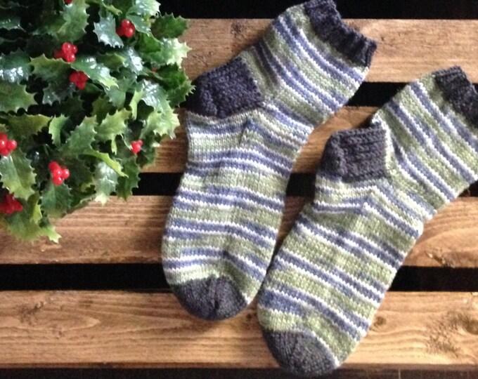 Knitted bottom handmade Merino and Nylon child 6-9 years
