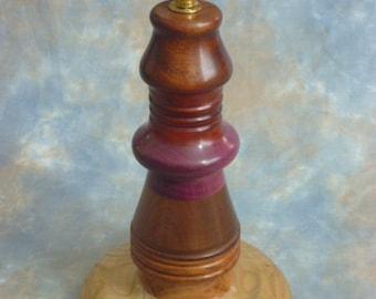 Wooden handmade table lamp