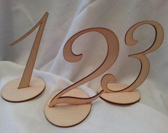 Wedding Table numbers - Rustic Wedding Table Number