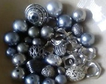 Silver mix of quality beads