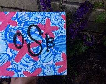 Starfish Lilly Pulitzer print canvas