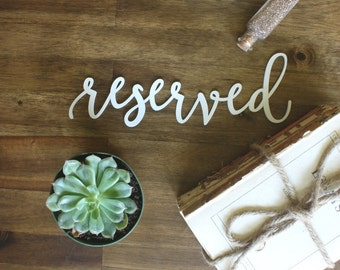 Reserved Chair Signs Wedding