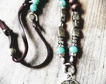 Boho Turtle Necklace