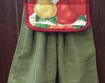 Hanging Kitchen Hand Towel (fruit/green)