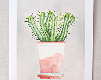 Plant on my window sill no. 2 // print, watercolor
