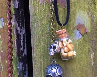 Bone Vial Necklace