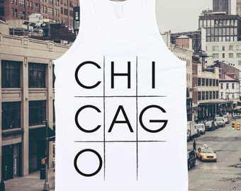 Chicago Tic-tac-toe tank top