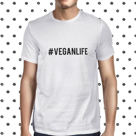 Vegan Life T-shirt for Men - Male Vegan Clothing - Animals Are Friends Tee Shirt - Vegetarian Lifestyle Shirt - Men's Cool Vegan Shirt