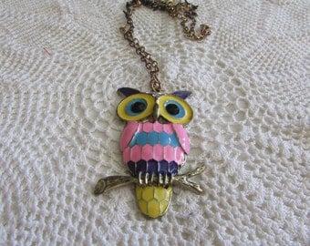 Vintage Owl Necklace/Vintage Owl Jewelry/Vintage Owl Pendant/Boho Owls - FREE SHIPPING!!!
