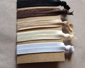 Neutral Colored Hair Ties