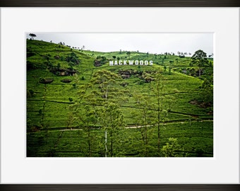 tea plantation print Sri Lankan nature photo, Sri Lanka mountain photography, Asia fine art, wall art, home decor HDR natural landmark