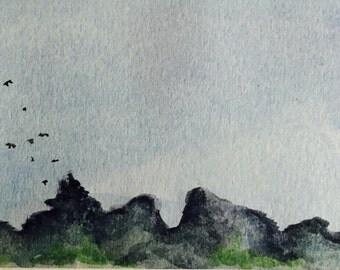 Original Water Color Landscape Painting