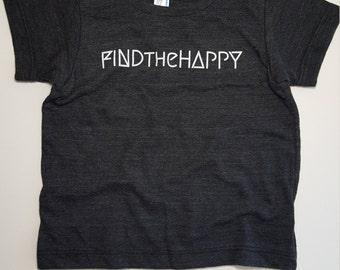 Find The Happy Kids Tshirt // American Apparel 6yr // Black Tshirt //Kids Tshirt // Children's clothing