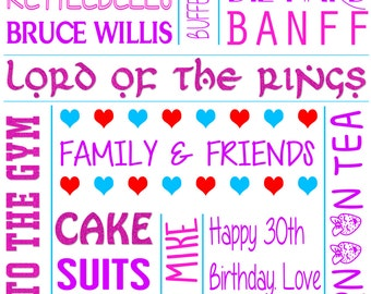 Personalised Prints, with text of your choosing!