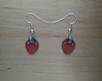 Mini earrings Strawberry kawaii