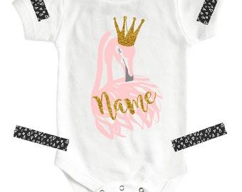 Custom Baby Bodysuit, Pink Flamingo, Cute Onesies®, Baby Girl Onesies, Baby Girl, Baby Onesies, Baby Clothing, Gift for Baby, Girls Clothing