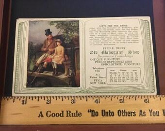 Vintage June 1926 Ink Blotter