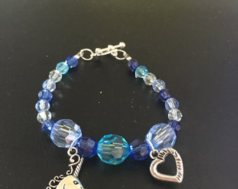 Blue Unicorn Bracelet