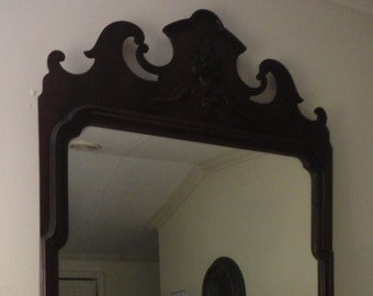 Antique 1800's Chippendale Ornate Mirror