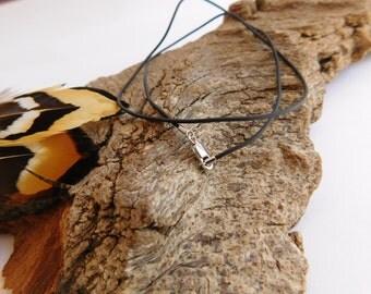 Black RUBBER Base Necklace_ CO878451070//NA_ Base Necklace_ Black Fine Rubber of 21/5 cm__8/8 in