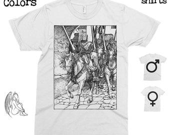 King Arthur Knights - Howard Pyle T-shirt, Tee, American Apparel, Art, Illustration, Camelot, Knight, Cute Gift