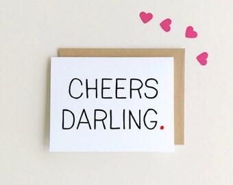 Congrats Card | Cheers Darling Card|  {SKU: FC132}