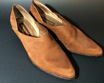 Vintage brown pointed shoe size 8