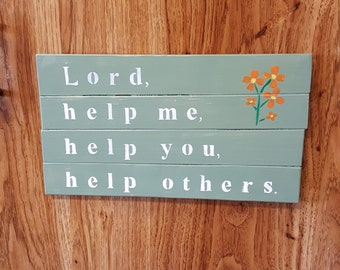 Inspiring Hand-painted prayer sign.Beautiful wall art with original prayer for recovery.