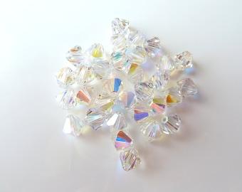 20pcs 6mm Swarovski Crystal AB Bicone Crystals- Swarovski 5328- Item CAB6B