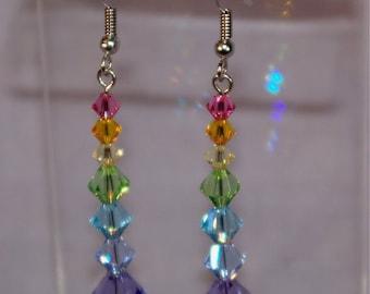 Pastel Crystal Rainbow earrings