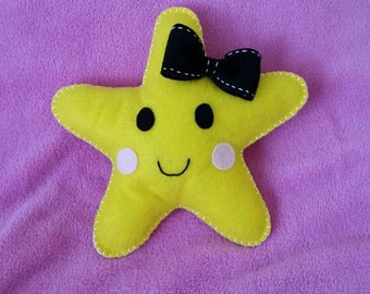 Custom Felt Star Tooth Fairy Pillow - Personalized with your choice of bow