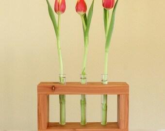 Test Tube Flower Vase - Cedar