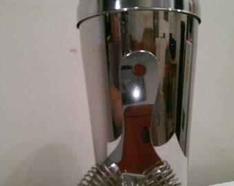 Stainless Steel Martini Shaker and Strainer