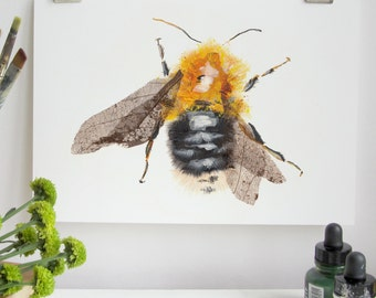 Tree Bumble Bee Print