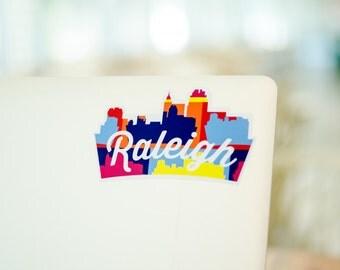 Raleigh, NC Skyline Sticker