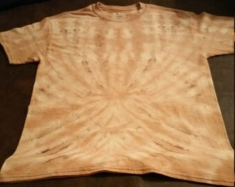 Adult Medium Bleached Spider Tie Dye