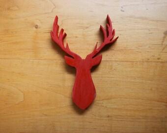Red Mule Deer Head