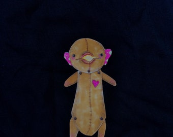 Stuffed Animal Paper Doll (Fred)