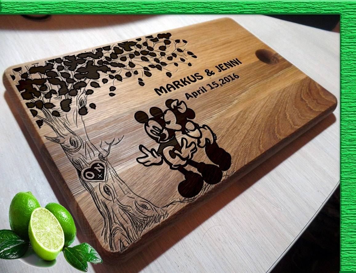 Personalized Disney Wedding Gifts: Disney Wedding Gift Cutting Boards Handmade Mickey Mouse