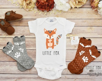 Little Fox Shirt, Baby Boy Clothes, Baby Shower Gift, Cute Baby Clothes