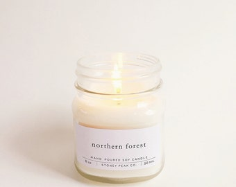Northern Forest Mason Jar Soy Candle