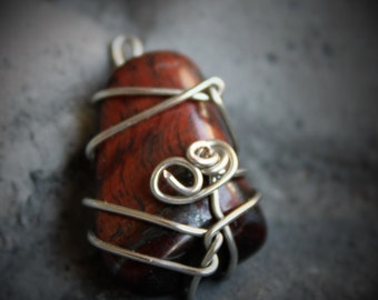 Red Tigers Eye - Silver