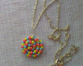 Bead Swirl Necklace