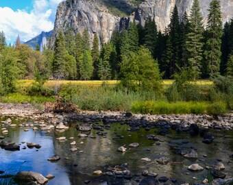 Reflection - Yosemite Valley, Rustic Landscape Photography, Fine Art Photography, Landscape Print