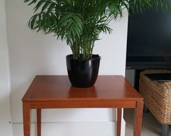 Danish Mid-Century Bent Silberg Mobler teak end table