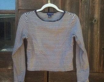 90's Ann Taylor Striped Long Sleeve