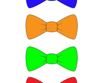Colorful Bow tie Photo booth Props DIY Printable