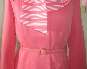 Vintage Kimberly Lovely 5-piece Pant Suit, Gorgeous Coral Color