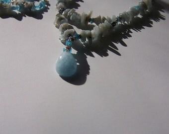 Aquamarine Pendant Set