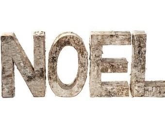 NOEL birch leterstands, wood letters, letter stands